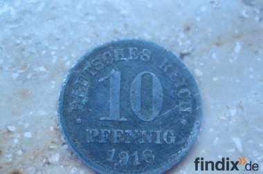 10 Pfennig Münze 1918 Deutsches Reich
