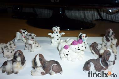 11 Stuck Figuren Hund für Sammlung