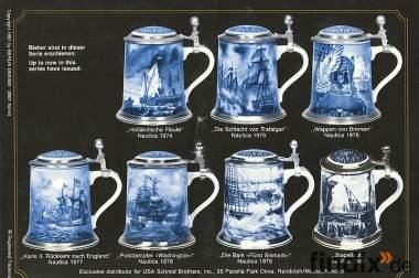 12 hochwertige Porzellan Bierkrüge gegen Gebot abzugeben