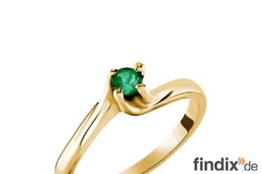 18k Gold Ring mit Smaragd