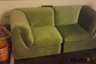 2 Sitz Sofa ( Grün )