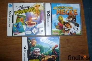 3 Nintendo Ds Spiele (Oben,Disney Friends,Ab durch die Hecke)