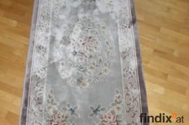 3-teiliges Teppich-Set aus feiner China-Seide