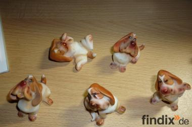 5 Stück Figuren Hund