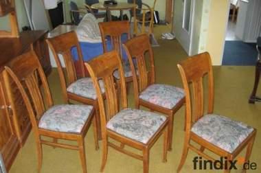 6 Esszimmerstühle & Tisch Eiche ca.100 Jahre alt