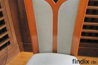 6 Esszimmerstühle, Musterring, Kirschbaumholz,