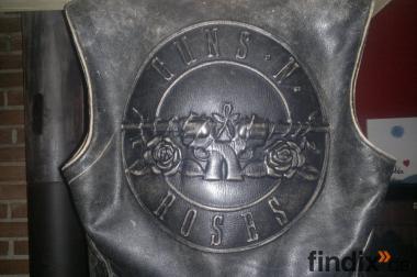"""Absolute seltenheit """"Guns`n Roses"""" Biker Weste von Hein Gericke"""