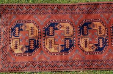 Afghan alt 400x105 Nomadenteppich (T060)