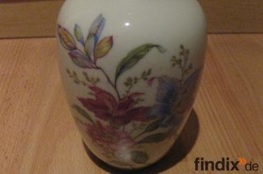 Antike Bavaria Porzellan Vase mit Goldrand, guter Zustand
