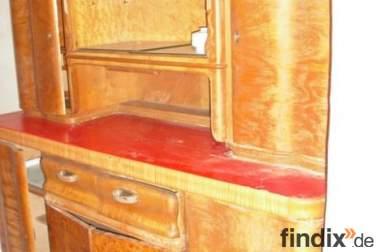 antiker massiver Küchenschrank 1947 Bicker Hameln 1. Möbelmesse