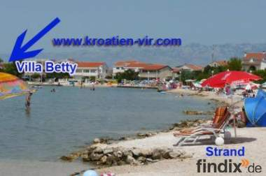 Apartments direkt am Meer Insel Vir, Kroatien