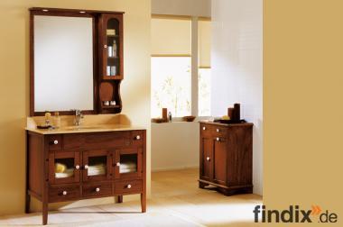 Badezimmermöbel Mirka mit Spiegel und Hängeschrank