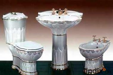 Badezimmerset aus Keramik Serie Valencia