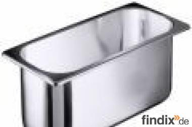 Gastro Behälter aus Edelstahl  seidenmatt  poliert