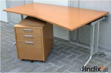 BENE Designer Schreibtisch (mit Unterschrank und Kabelkanal)
