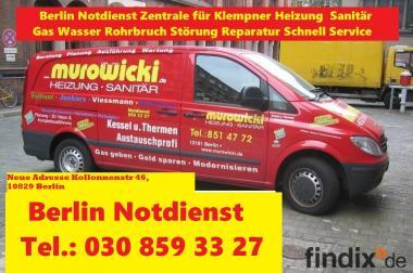 Berlin Klempner Sanitär Heizung Notdienst Tel.:030/859 33 27