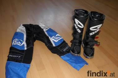 Biete Motocross-Hose und Motocross-Stiefel!!!