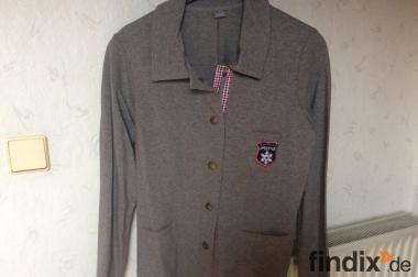 Blusenjacke aus Jersey und Rippstick.Gr.42.
