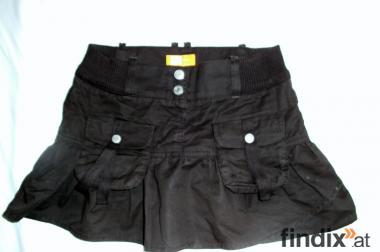 Brauner Minirock für Mädchen mit Vordertaschen
