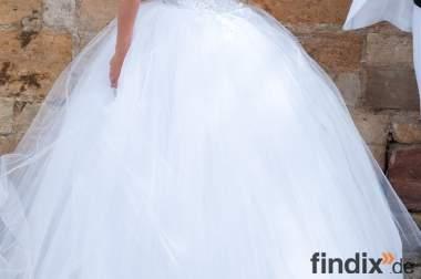 Brautkleid Hochzeitskleid Corsagenkleid WIE NEU 32-38 XS S M
