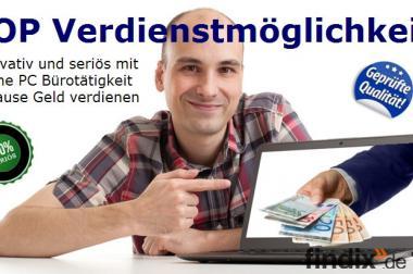 Büro-Online-Job am PC im Home Office, Firmenauto bezahlter Urlaub