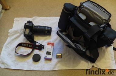 Canon 5D Mark II 21,1 MP 16 GB und 50-200mm Objektiv