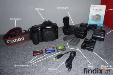 Canon30D D-SLR (Body) + Zubehör
