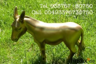 Deko Esel lebensgross - Spez. Gold Lack