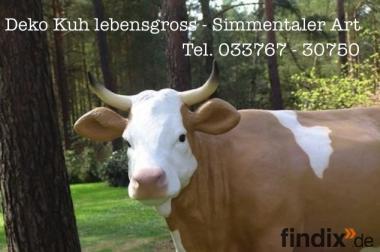 Deko Kuh lebensgross für Ihren Garten ...