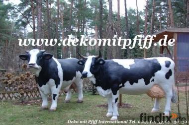 Deko Kuh lebensgross für Ihren Vorgarten ...