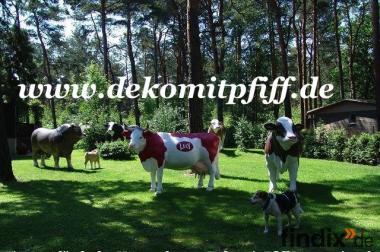 Deko Kuh oder Deko Bulle lebensgross ...