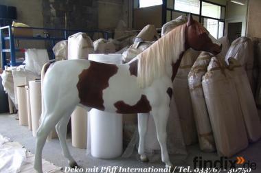 Deko Pferd lebensgross in dieser Bemalungsart ...