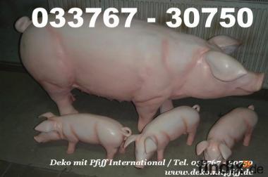 Deko Schweine für Ihren Garten als Blickfang für Ihre Nachbarn ..