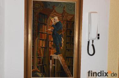 Der Bücherwurm gestickt sehr schön