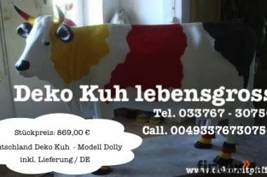 Deutschland - Deko Kuh lebensgross