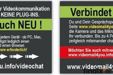 Die Weltneuheit -Live-Video-Chat!