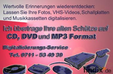 Digitalisierung von VHS-Videos, Filme, Schallplatten, Musikkasset