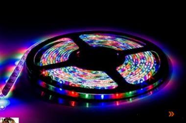 Dimmbar - 5 m RGB-Stripe - 300 SMD - 48 Watt - IP51