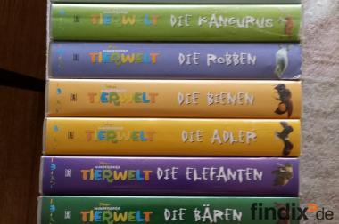Disneys wunderbare Tierwelt 13 Bücher und 13 Videos komplett!!!