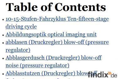 ebook: Mit indexsuche woerterbuch begriffe kfz-Technik finden