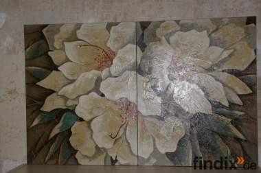 Ein Blüten-Arrangement in Oel.