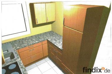 Einbauküche, Top Zustand, Buche, fast wie neu