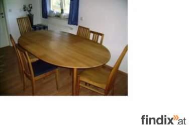 Esszimmer mit 6 Sesseln zu verkaufen