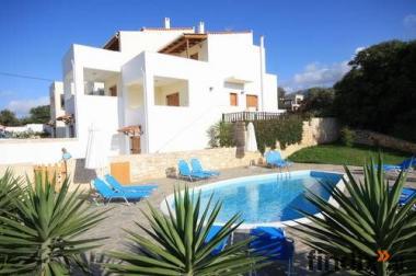 Exclusive Villa mit Pool u. Meerblick Kreta-Rethymno 6-8 Personen