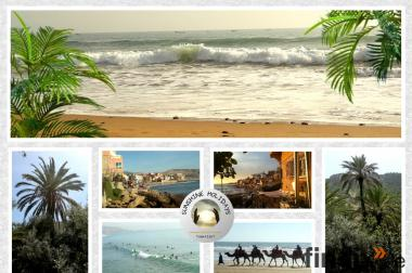 Ferienwohnung Marokko Taghazout Agadir Apartment FeWo Terrasse