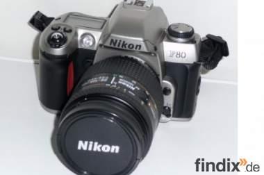Fotokamera Nikon F80-Objektiv.