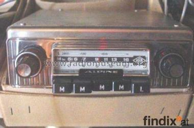 Für Sammler und Oldtimerfans: Autoradio Typ ALPINE vom Hea-Werk
