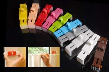 gardinenhalter ohne kleben oder bohren befestigen 201044. Black Bedroom Furniture Sets. Home Design Ideas