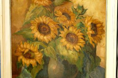 Gemälde Dora Schmetz-Diel Sonnenblumen (B005)