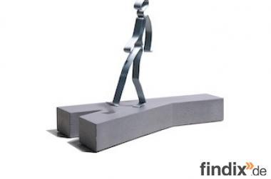 """Geschenk für Geschäftsfreunde: Skulptur / Figur """"Neue Wege gehen"""""""